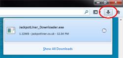 jackpot liner download instructions step 1