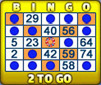 jackpot liner 75 ball bingo card