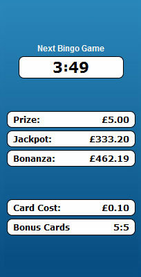 jackpot liner 75 ball bingo game payouts prizes jackpots
