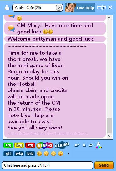 jackpot liner live chat board