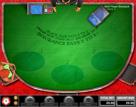 jackpot liner multiplayer blackjack online casino game
