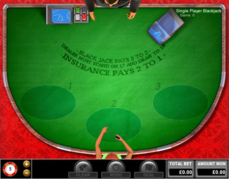 jackpot liner single player blackjack online casino game