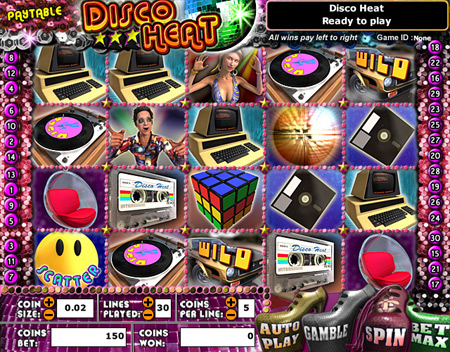 jackpot liner disco heat 5 reel online slots game