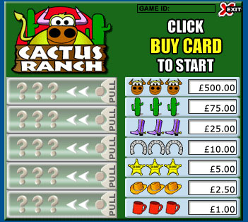 jackpot liner cactus ranch pull tabs online instant win game