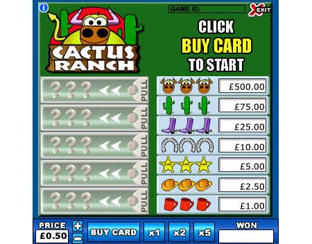 jackpot liner cactus ranch online instant win game