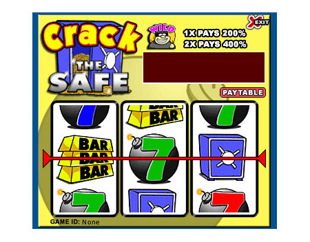 jackpot liner crack the safe 3 reel online slots game