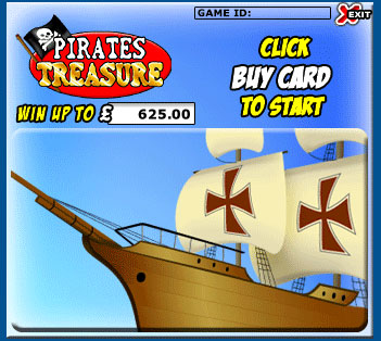jackpot liner pirates treasure scratch cards online instant win game