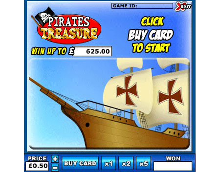 jackpot liner pirates treasure online instant win game