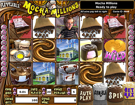 jackpot liner mocha millions 5 reel online slots game