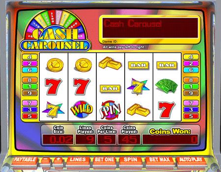 jackpot liner cash carousel 5 reel online slots game