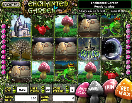 jackpot liner enchanted garden 5 reel online slots game
