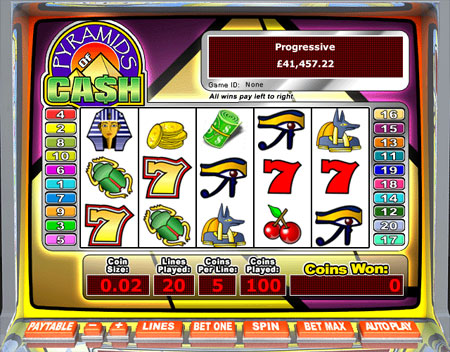 jackpot liner pyramids of cash 5 reel online slots game